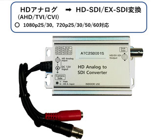 ATC2SDI01S; AHD,TVI→HD-SDI/EX-SDI(1080p30)変換コンバーター写真