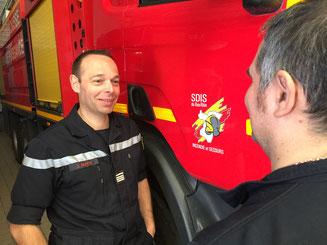 Jerome MUTIN officier pompier diacre eglise Sainte Barbe