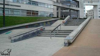 Skate à Rennes, streetpark de l'Arsenal