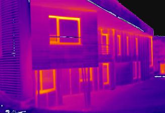 Themographie infrarouge d'un immeuble de bureaux à Sambreville - PrismEco