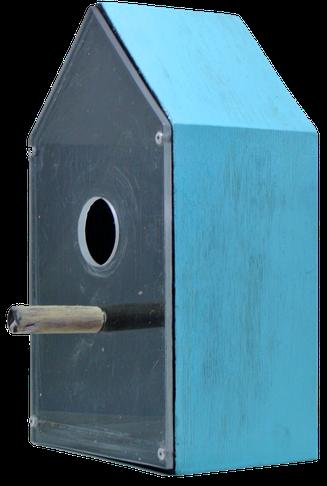 maison pour oiseaux en bois récupéré