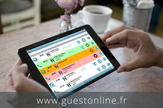 Avec GuestOnline, vous pourrez gérer vos réservations sur iPad.