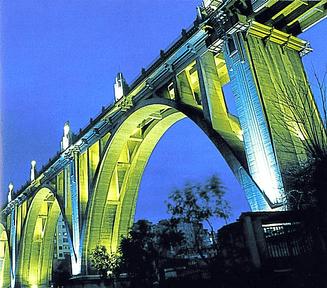 Puente de Sant Jorge en Alcoy, Comunidad Valenciana. España