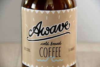 """awave"" cold brewed coffee"