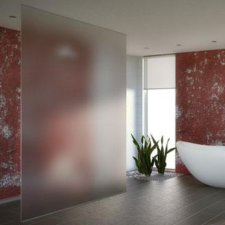 Sichtschutz im Badezimmer Milchglas Dekorfolie