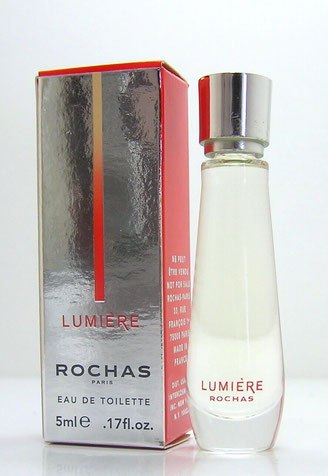 ROCHAS - LUMIERE : EAU DE TOILETTE 5 ML - MINIATURE IDENTIQUE A LA PHOTO PRECEDENTE