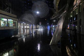 Bahnhofstrasse Zürich, Weihnachtsbeleuchtung, Wetter