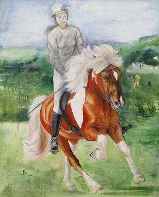 Gimsteinn und Katharina, Acryl auf Leinwand, 80 x 100 cm, 2013