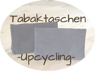 Tabaktaschen aus Leder in Upcycling mit Wunschname