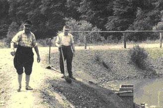 Bau der Teiche des Angelclub Wißmar e. V.