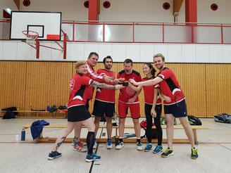 1. Badminton-Mannschaft des Köpenicker SC e.V. nach einem Punktspiel