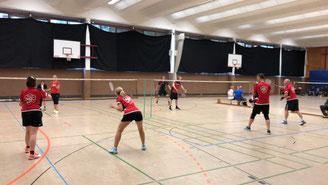 Badminton Mannschaftsspiel der BBMM
