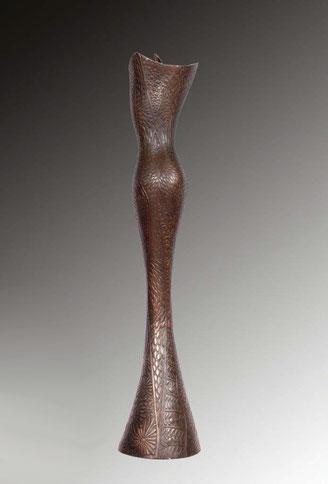 Tenues de Soirée, 136 cm, bronze sculpture Jean-Louis Landraud