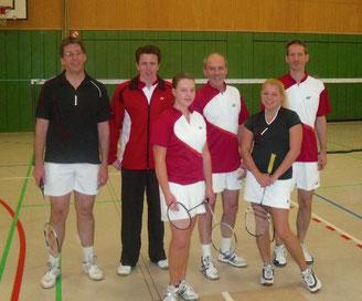 3.Mannschaft v.l.: Andreas Friese, Tobias Tacken, Annika Bartels, Stephan Röder, Michaela Ritter und Jan Stratmann
