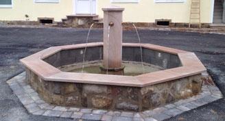 Brunnen aus Ibbenbürener Sandstein