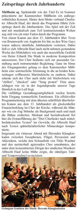 """Quelle: """"Stimmgabel"""", das Infoblatt des UMCV"""