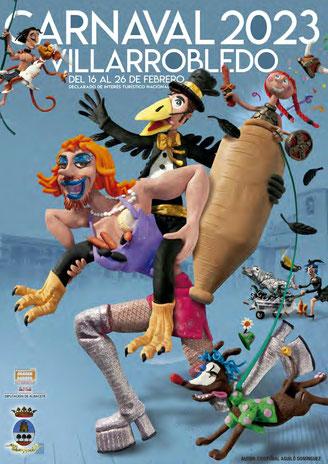 Cartel y programa del Carnaval de Villarrobledo 2017