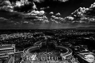 Rome, black and white, noir et blanc, art, street photography, CarCam, vatican