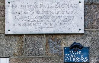Das Haus, in dem der Maler Paul Signac in Barfleur residiert hat