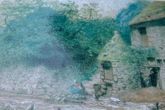 Gemälde von Jean-Francois Millet, das seinen Heimatort Gruchy darstellt