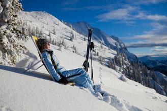 Bild: Relaxen und die Seele baumeln lassen im Schnee