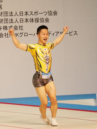 シニア男子シングル第3位の斉藤瑞己