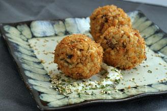 Korokke shiitake (Croquetas de setas) (vegetariano)