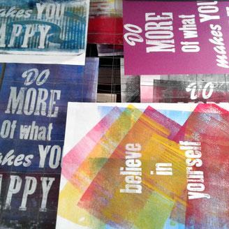 Drucken mit Holzbuchstaben, Holzletter