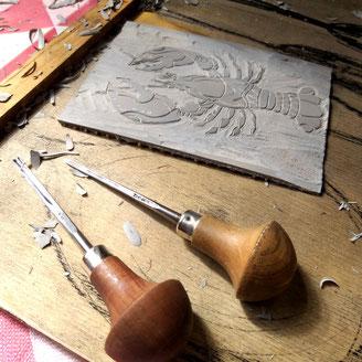 Linolschnitt lernen, Workshop