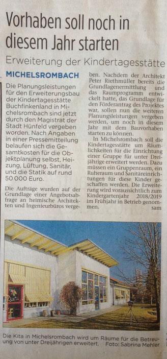 Erweiterung der Kindertagesstätte Buchfinkenland
