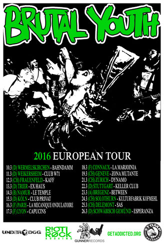 Brutal Youth Tourplakat
