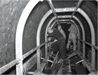 西部幹線工事の様子