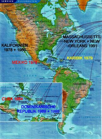 meine sechs Amerika-Reisen von 1978 - 1998