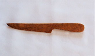 ナラ材のペーパーナイフ 洋刀デザイン