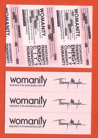 WOMANITY - CARTE EN 3 PARTIES - VUE RECTO & VERSO