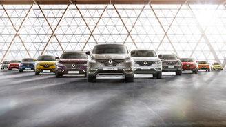 Cette image représente la gamme de véhicules neufs de Renault Pibrac Automobiles