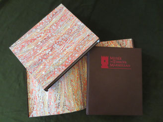 Guestbook, folder and slipcase - Bourgogne Reliure