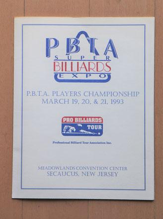 1993年『第1回』のプログラム。当初はアメリカ男子プロの組織『PBTA』主催のイベントとして、ニュージャージー州セコーカスで開催された