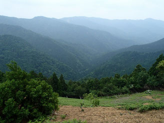 百里ヶ岳を越え
