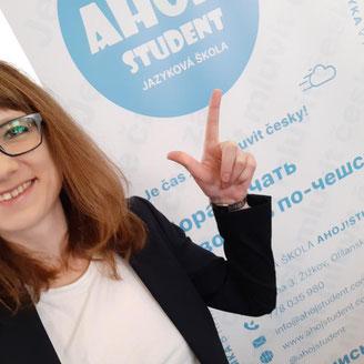 """Ing. Ekaterina Zvereva, zakladatelka a ředitelka jazykové školy českého jazyka v Praze """"Ahoj!Student"""""""