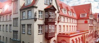...& der Hauptsitz in der Rathenaustraße 5 in Halle an der Saale.