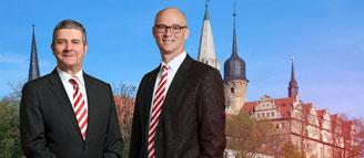 Der Vorstand:Alexander Meßmer und Dr. Jürgen Fox...