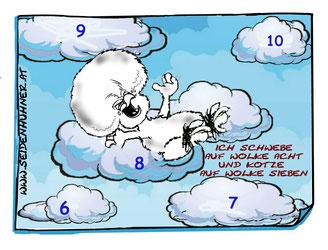 gupis huhn,hühner,seidenhühner,wolke7,wolke sieben,glück