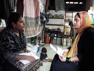 Visite à domicile avec notre partenaire LSS en Inde