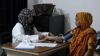 Dhaka. Health control at HFC center.