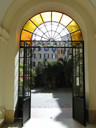 The gate to the courtyard of my B&B