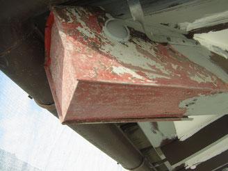 外壁塗装・屋根塗装写真状況。熊本T様邸。鉄部研磨処理完了。