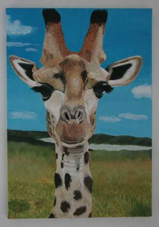 Giraffe TALITHA 48 x 65 cm, Acryl, CHF 520.--