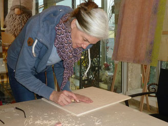 Eindrücke vom Holzschnitt - Workshop