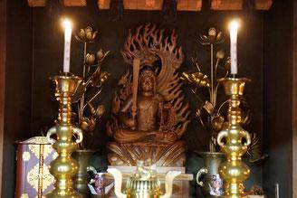 不動明王。慈晃院の毎月28日は不動護摩の日。